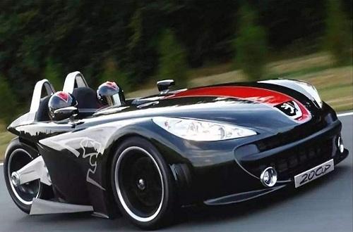 巴黎车展知名汽车品牌标志公开发布概念超跑三轮摩托车