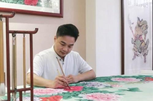中山画家文峰用画笔勾勒禅意人生