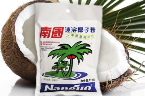 南国椰子粉:海南优质新鲜椰子为原材料